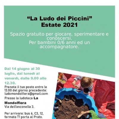 """La ludo dei Piccini – Estate in Ludoteca """"La Mondolfiera"""""""